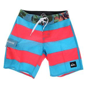 Шорты пляжные детские  Everydbrigyou16 Everyday Brigg Hawai Quiksilver. Цвет: голубой,розовый