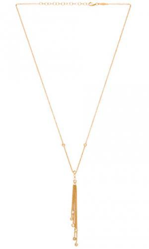 Ожерелье Jacquie Aiche. Цвет: металлический золотой