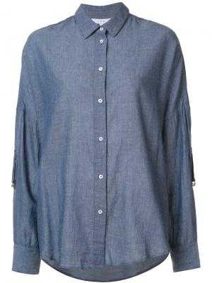 Джинсовая рубашка Fally Iro. Цвет: синий