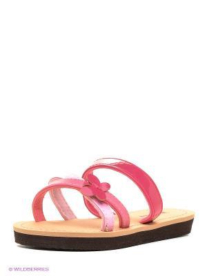 Шлепанцы Isotoner. Цвет: малиновый, розовый