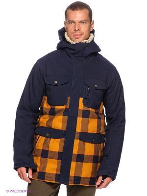 Куртка REPLY JACKET INS 15 Quiksilver. Цвет: темно-синий, горчичный