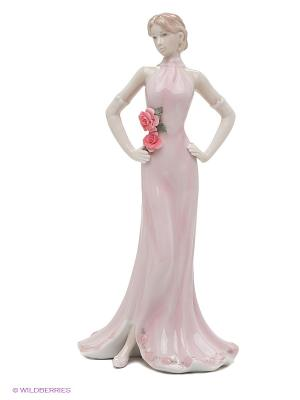 Статуэтка Дама в вечернем платье Pavone. Цвет: розовый