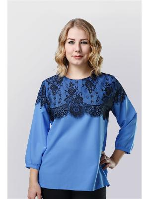 Блузка Alona. Цвет: голубой