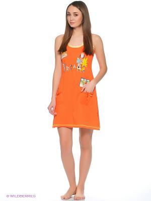 Сорочка Cascatto. Цвет: оранжевый