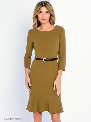 Платье Personage. Цвет: оливковый