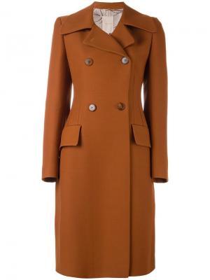 Двубортное пальто Roksanda. Цвет: коричневый