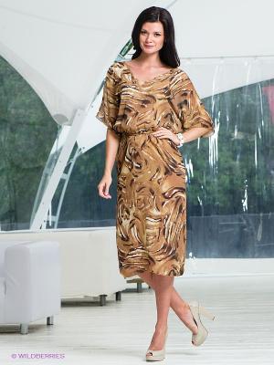 Платье T&M. Цвет: коричневый