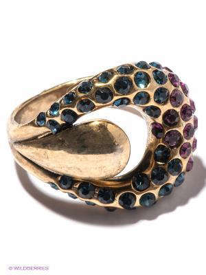 Кольцо Bijoux Land. Цвет: золотистый, синий, фиолетовый
