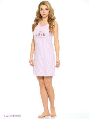 Ночная сорочка Vienetta Secret. Цвет: розовый