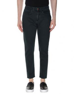 Джинсовые брюки DERRIÉRE. Цвет: темно-зеленый