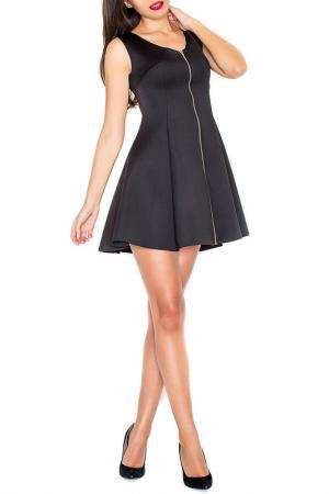 Платье KATRUS. Цвет: black