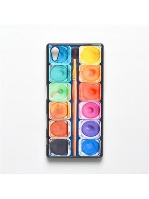 Чехол для Sony Xperia Z5 Акварель с кисточкой Boom Case. Цвет: антрацитовый