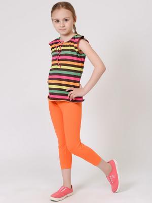 Топ EMDI. Цвет: коричневый, оранжевый, голубой