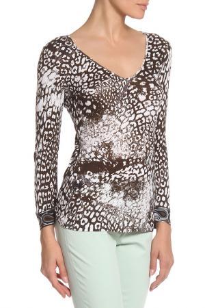 Блузка Emilio Pucci. Цвет: коричневый, принт