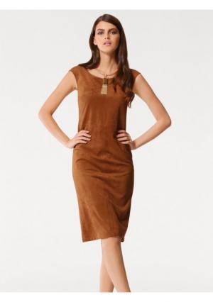 Платье PATRIZIA DINI. Цвет: коньячный