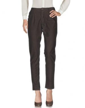 Повседневные брюки MANILA GRACE. Цвет: темно-коричневый