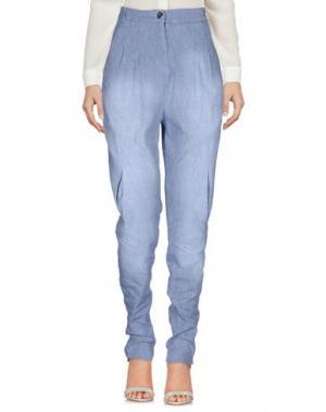 Повседневные брюки OBLIQUE CREATIONS. Цвет: синий