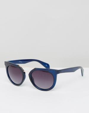 Jeepers Peepers Солнцезащитные очки с отделкой на переносице. Цвет: синий