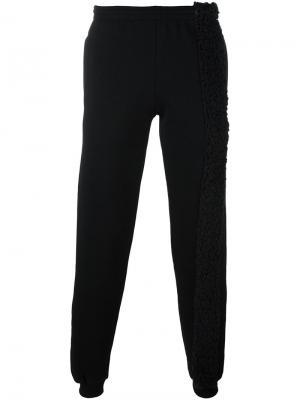 Спортивные брюки с контрастной панелью Cottweiler. Цвет: чёрный