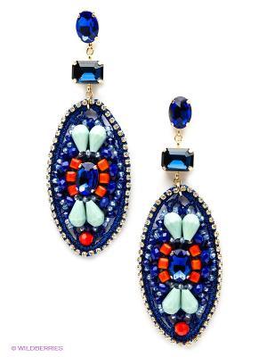 Серьги Kameo-bis. Цвет: синий, бирюзовый, оранжевый