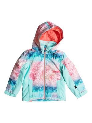 Куртка ROXY. Цвет: светло-коралловый, бирюзовый, коралловый
