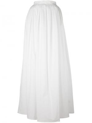 Fitted pleat maxi dress Daniele Carlotta. Цвет: белый