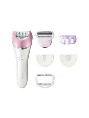 Эпилятор 5-в-1 для лица и тела Philips Satinelle BRE630/00. Цвет: белый, розовый