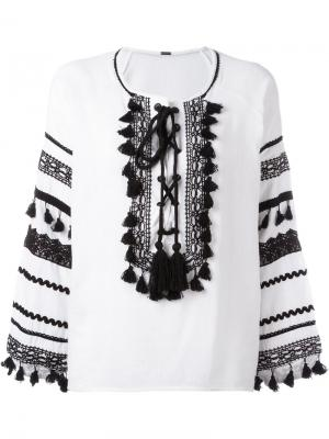 Tassel details blouse Dodo Bar Or. Цвет: белый