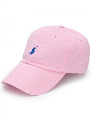 Кепка с вышитым логотипом Polo Ralph Lauren. Цвет: розовый и фиолетовый