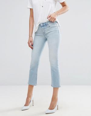J Brand Укороченные джинсы с легким клешем Selena. Цвет: синий