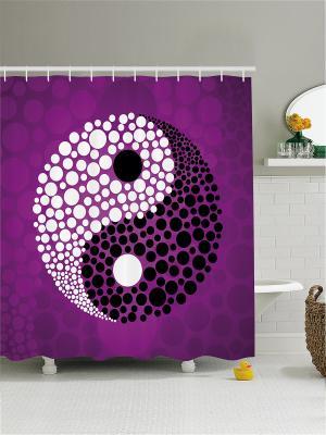 Штора для ванной Magic Lady. Цвет: черный, индиго, сливовый