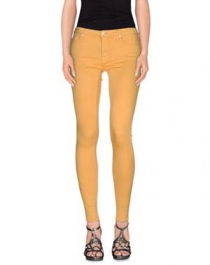 Джинсовые брюки (+) PEOPLE. Цвет: охра