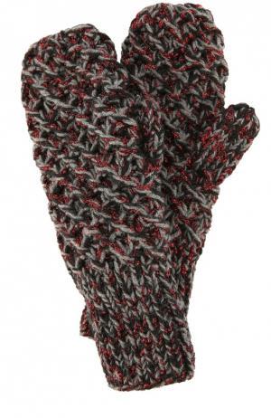 Варежки фактурной вязки 7II. Цвет: серый