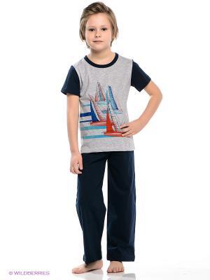 Пижама Vis-a-vis. Цвет: темно-синий, серый