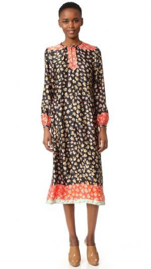 Платье с Охана Warm. Цвет: черный мульти