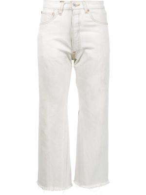 Укороченные джинсы с высокой талией Re/Done. Цвет: белый