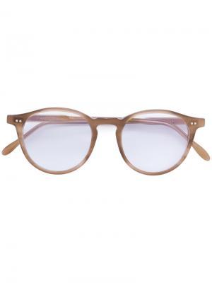 Круглые очки Pantos Paris. Цвет: коричневый