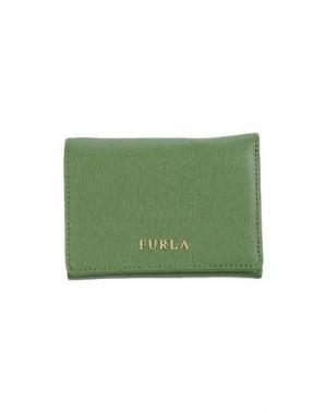 Бумажник FURLA. Цвет: зеленый-милитари