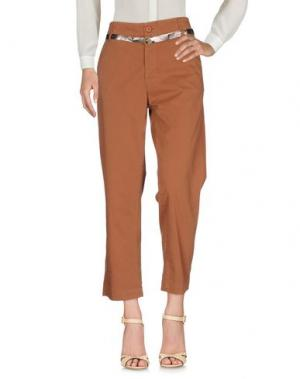 Повседневные брюки GUARDAROBA by ANIYE. Цвет: коричневый