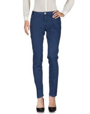 Повседневные брюки MAISON ESPIN. Цвет: грифельно-синий