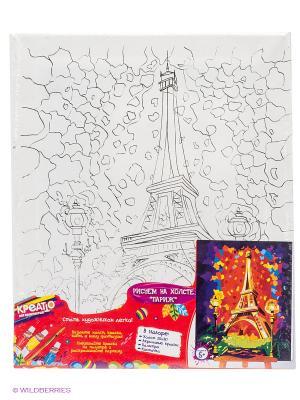 Роспись по холсту Париж КРЕАТТО. Цвет: белый