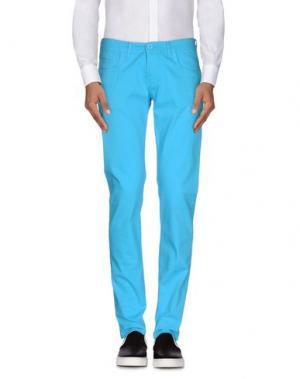 Повседневные брюки ROBERTO PEPE. Цвет: бирюзовый