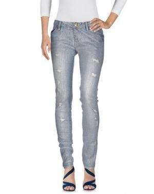 Джинсовые брюки LEROCK. Цвет: синий