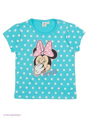 Футболка Minnie Mouse. Цвет: синий