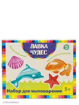 Набор для мыловарения Морские обитатели Лавка Чудес. Цвет: голубой, малиновый, красный, желтый