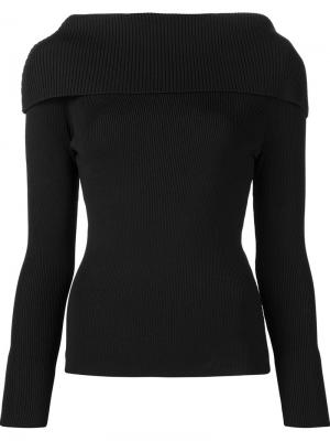 Ribbed shoulder overlay jumper Toteme. Цвет: чёрный