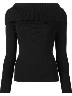 Ribbed shoulder overlay jumper Toteme. Цвет: чёрный
