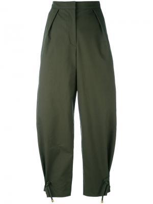 Укороченные широкие брюки Kenzo F751PA1515HB12079364