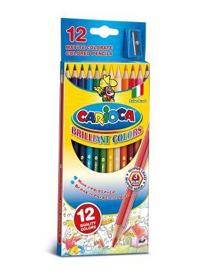 Набор карандашей цветных CARIOCA 12 цв.+точилка Universal. Цвет: синий