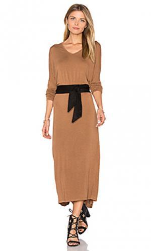 Платье-рубашка albaville American Vintage. Цвет: коричневый